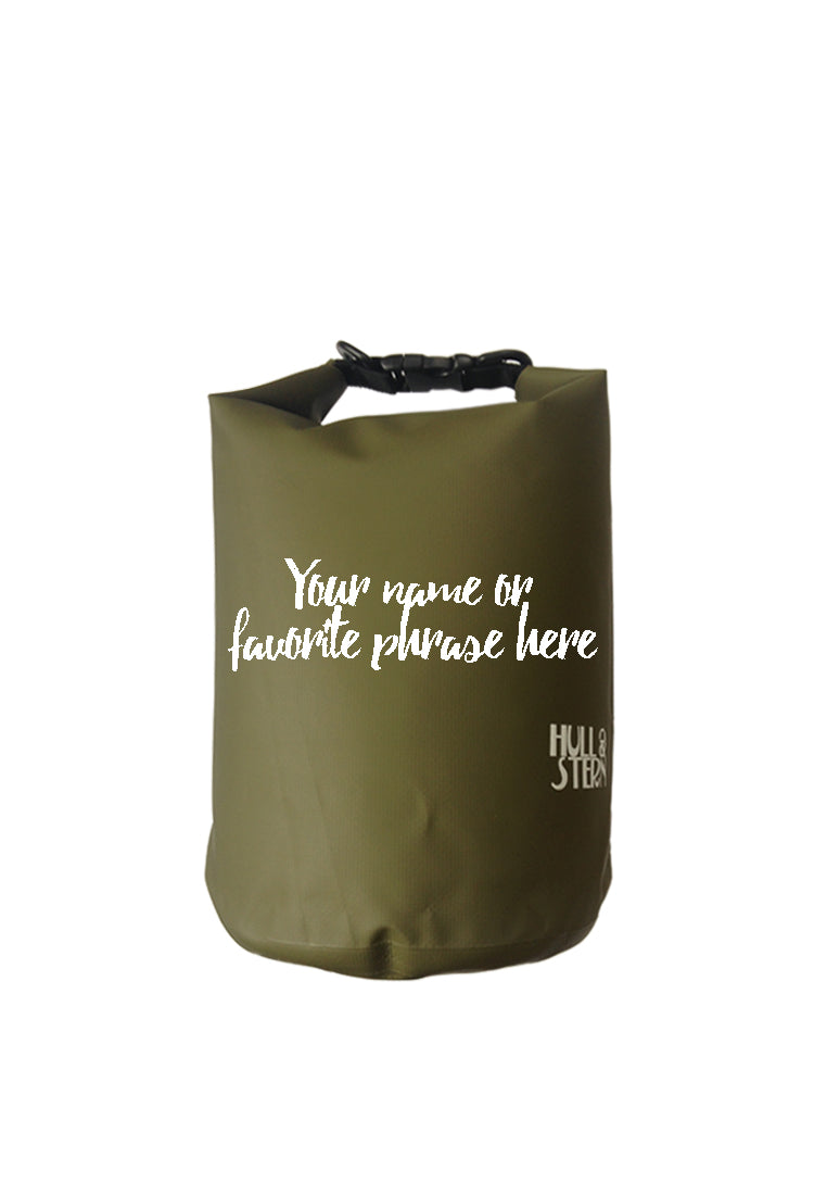 Hull Stern Dry Bag Size 5L Adventure Backpack in Forest Green Backpack Customized