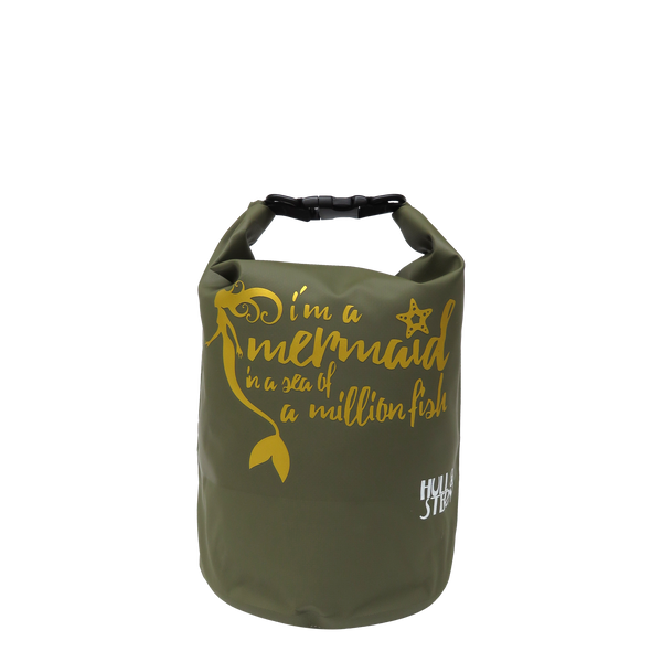 [LIMITED EDITION: Gold Mermaid in a Million] Adventure Dry Bag Size 5L (Forest Green Backpack)