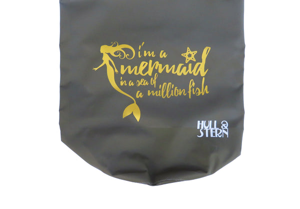 [LIMITED EDITION: Mermaid in a Million] Adventure Dry Bag Size 5L in Forest Green with Gold Print