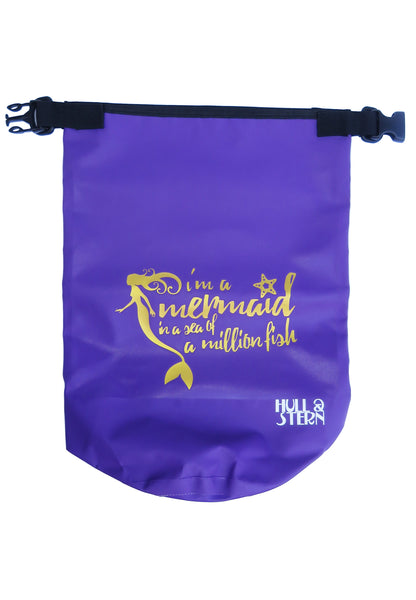 [LIMITED EDITION: Mermaid in a Million] Adventure Dry Bag Size 5L in Deep Sea Violet with Gold Print