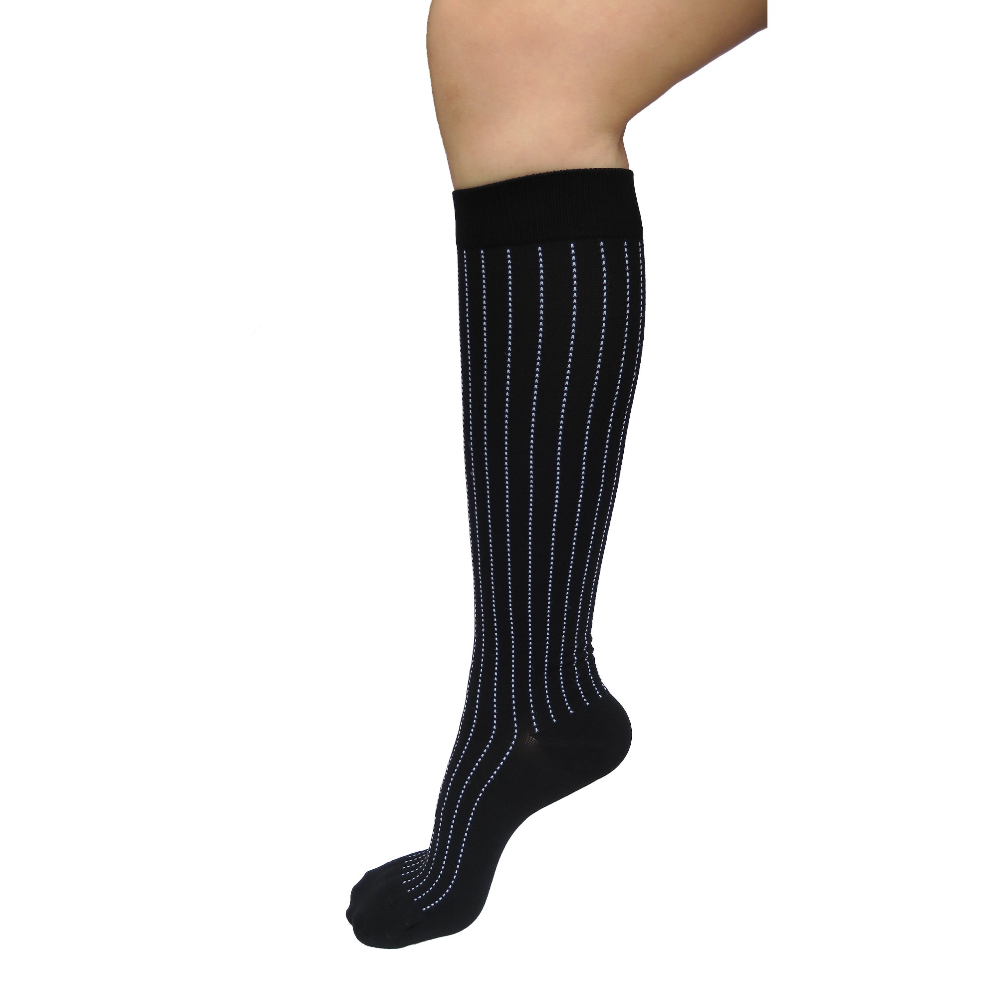 Graduated Compression Socks in Pinstripes