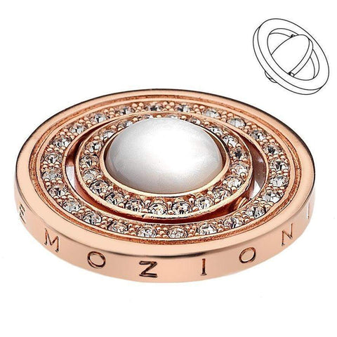 Emozioni Mare e Nubi Rose Gold Coin 25mm