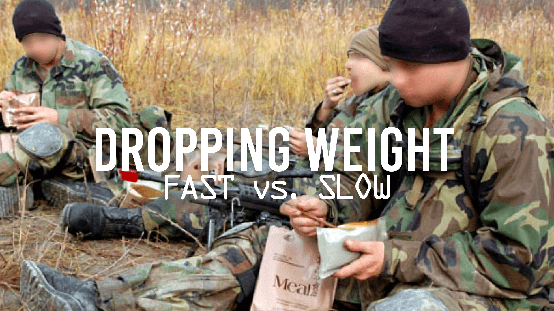Dropping Weight Fast vs. Slow