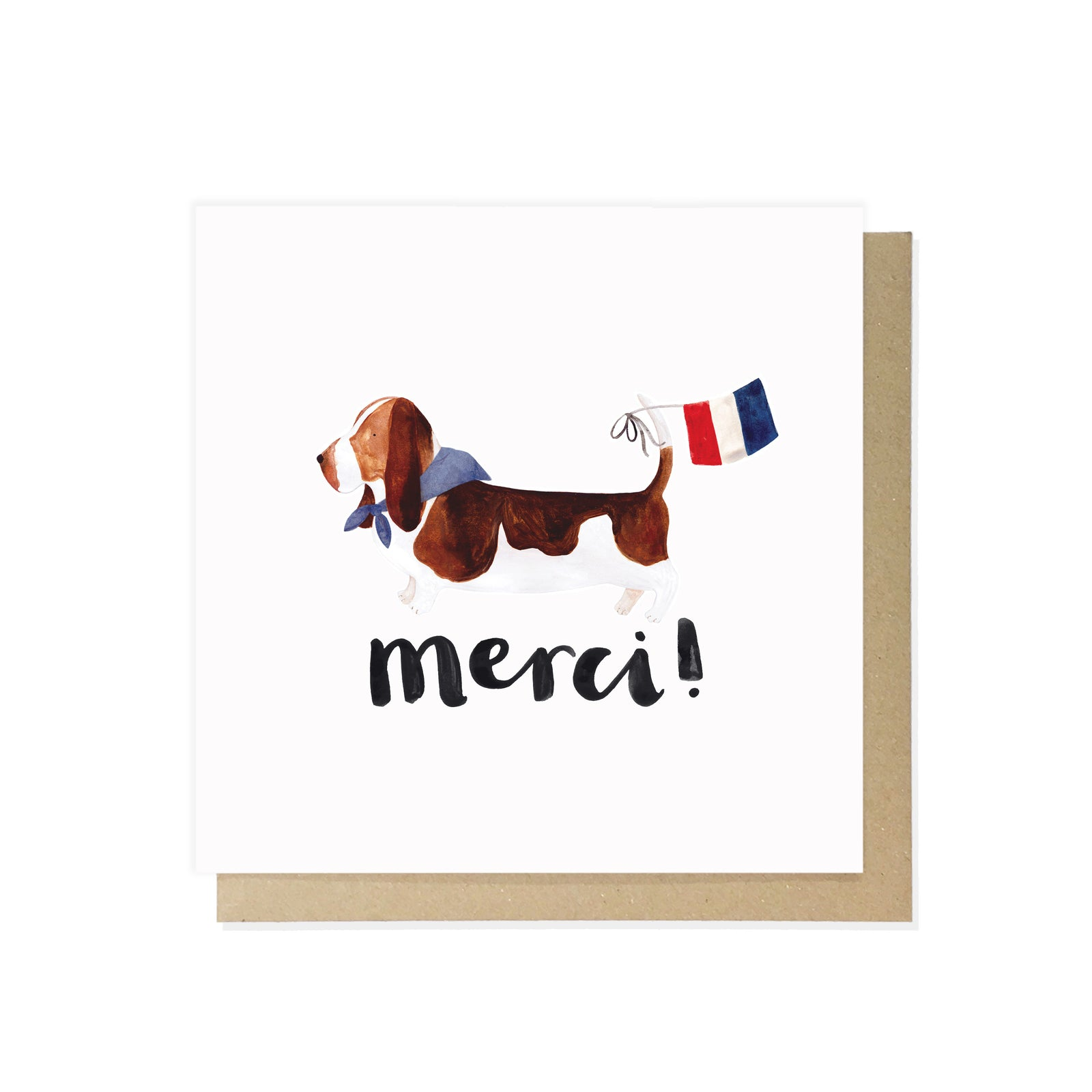 Basset Hound Card by Lauren Radley