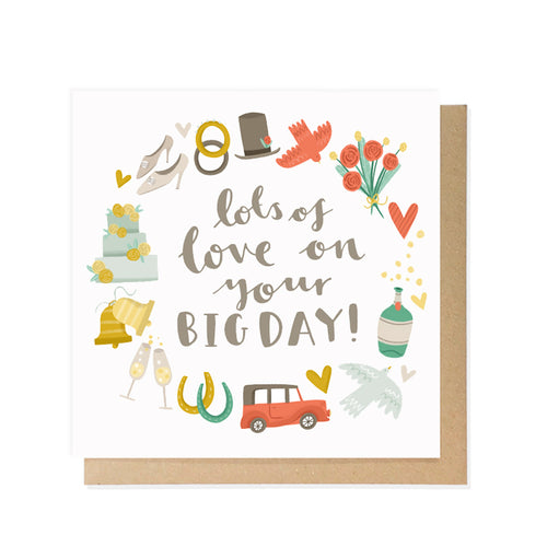 Big Day Wedding Card by Lauren Radley