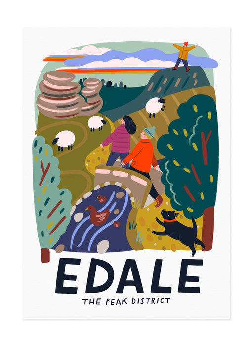 Edale - The Peak District Travel Poster Print