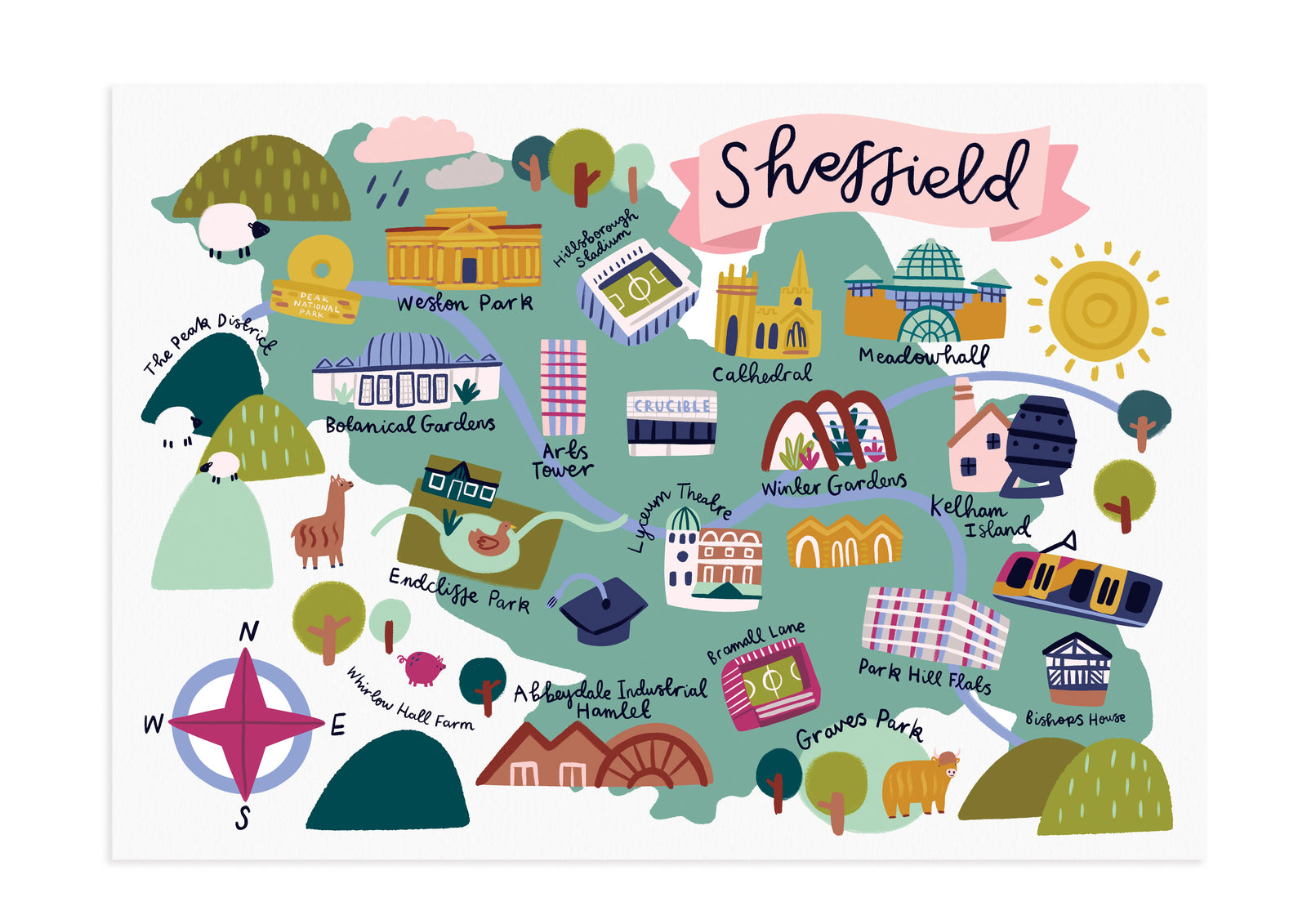 The City of Sheffield Print