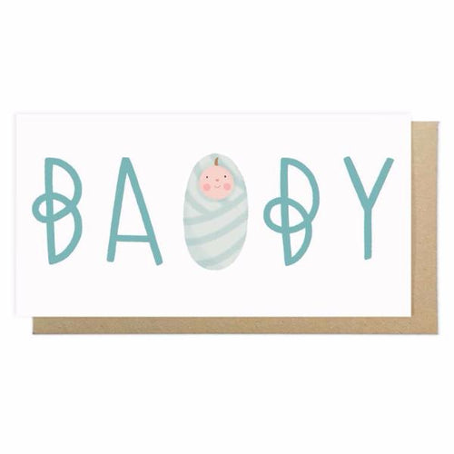 Baby Boy Card by Lauren Radley