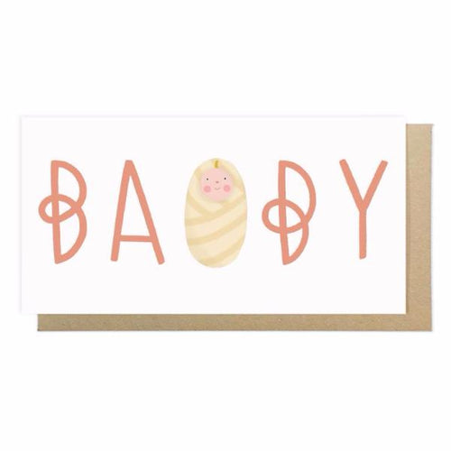 Baby Girl Card by Lauren Radley