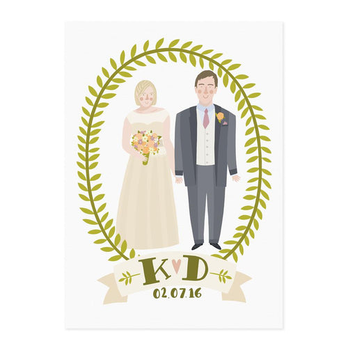 Illustrated Wedding Portrait