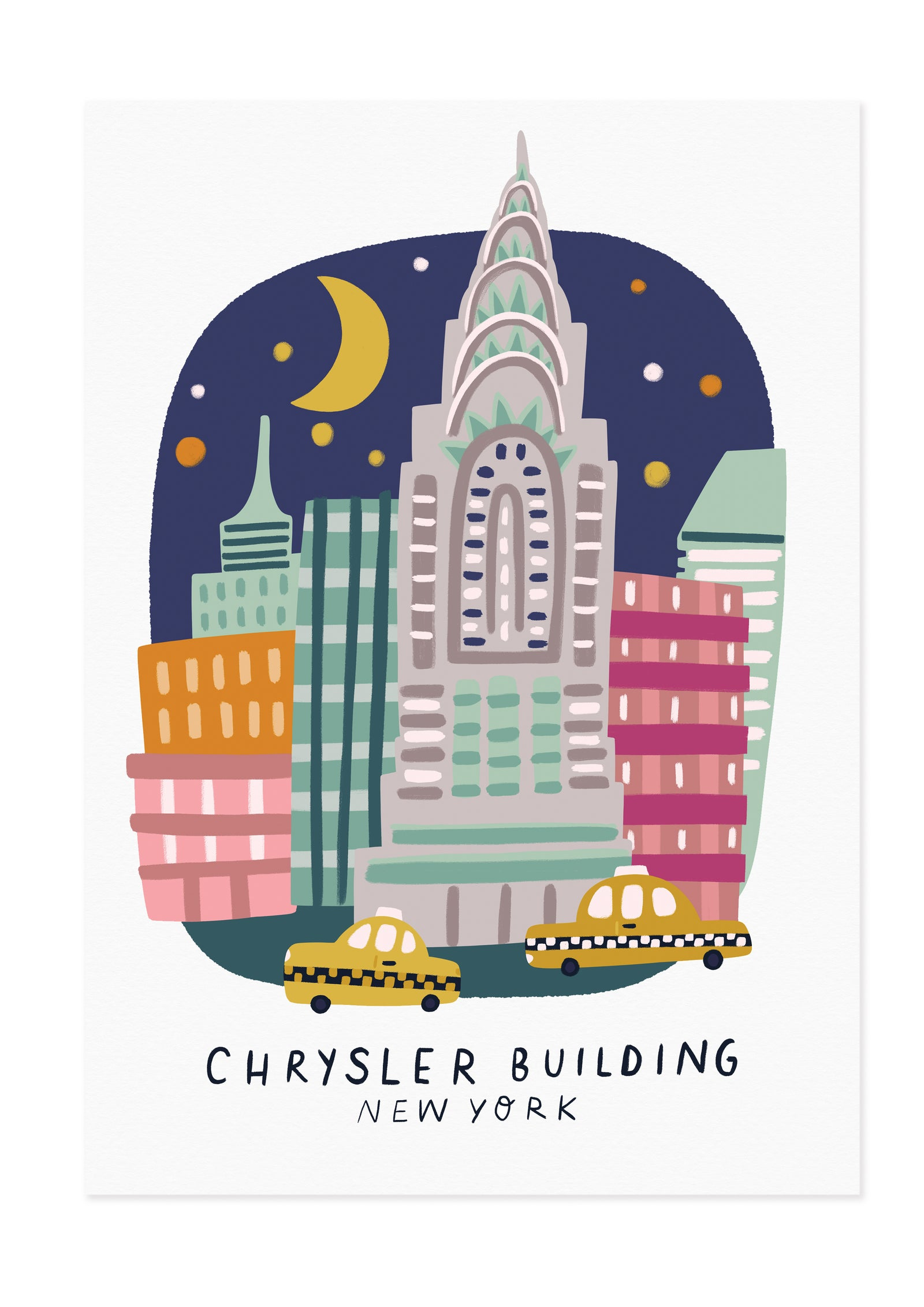 Chrysler Building New York Travel Poster Print