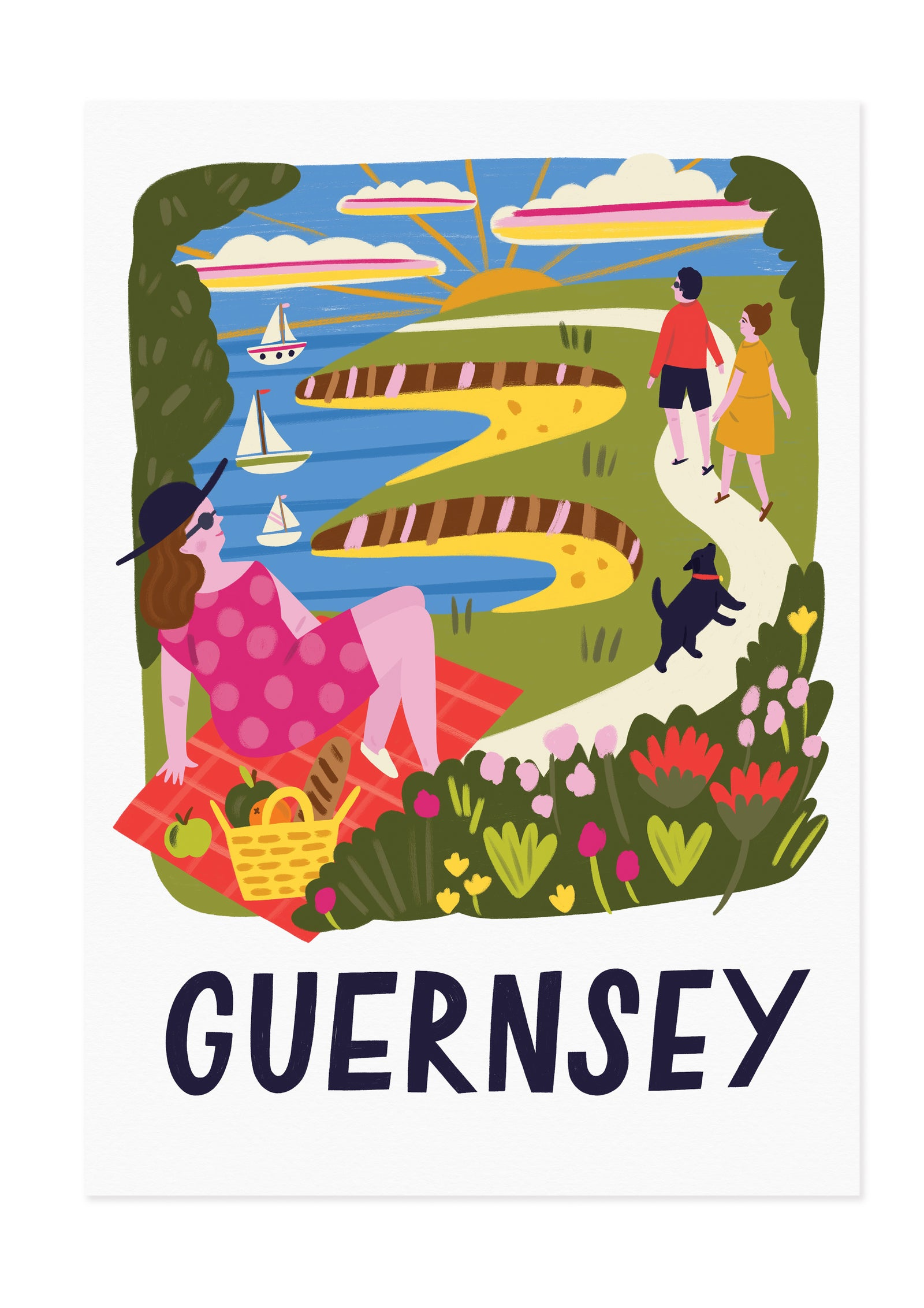 Guernsey Travel Poster Print