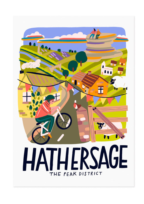 Hathersage - The Peak District Travel Poster Print
