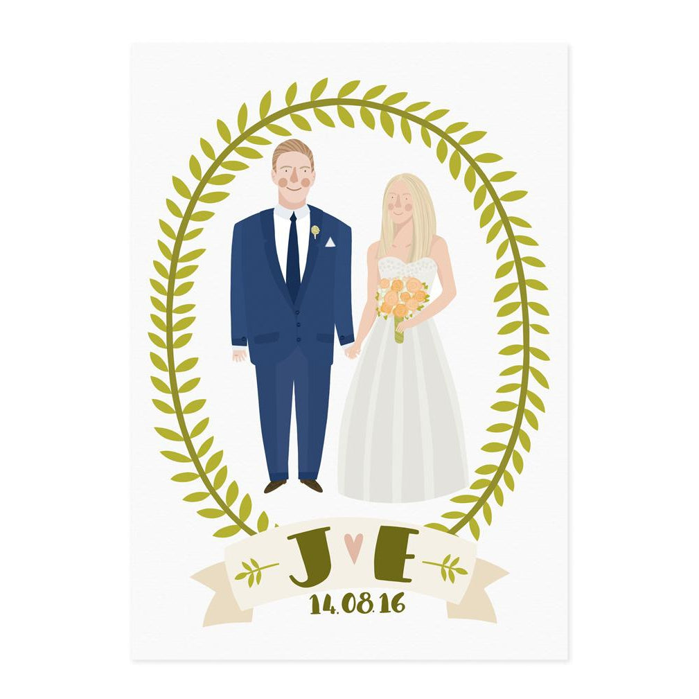 Illustrated Wedding Portrait - Lauren Radley