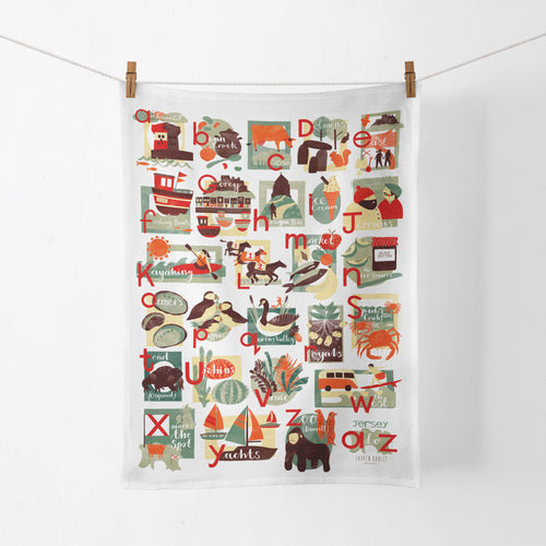 Jersey A-Z Tea Towel