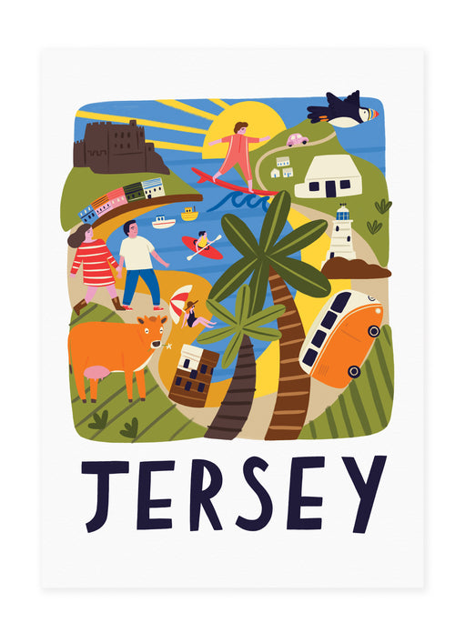 Jersey Travel Poster Print