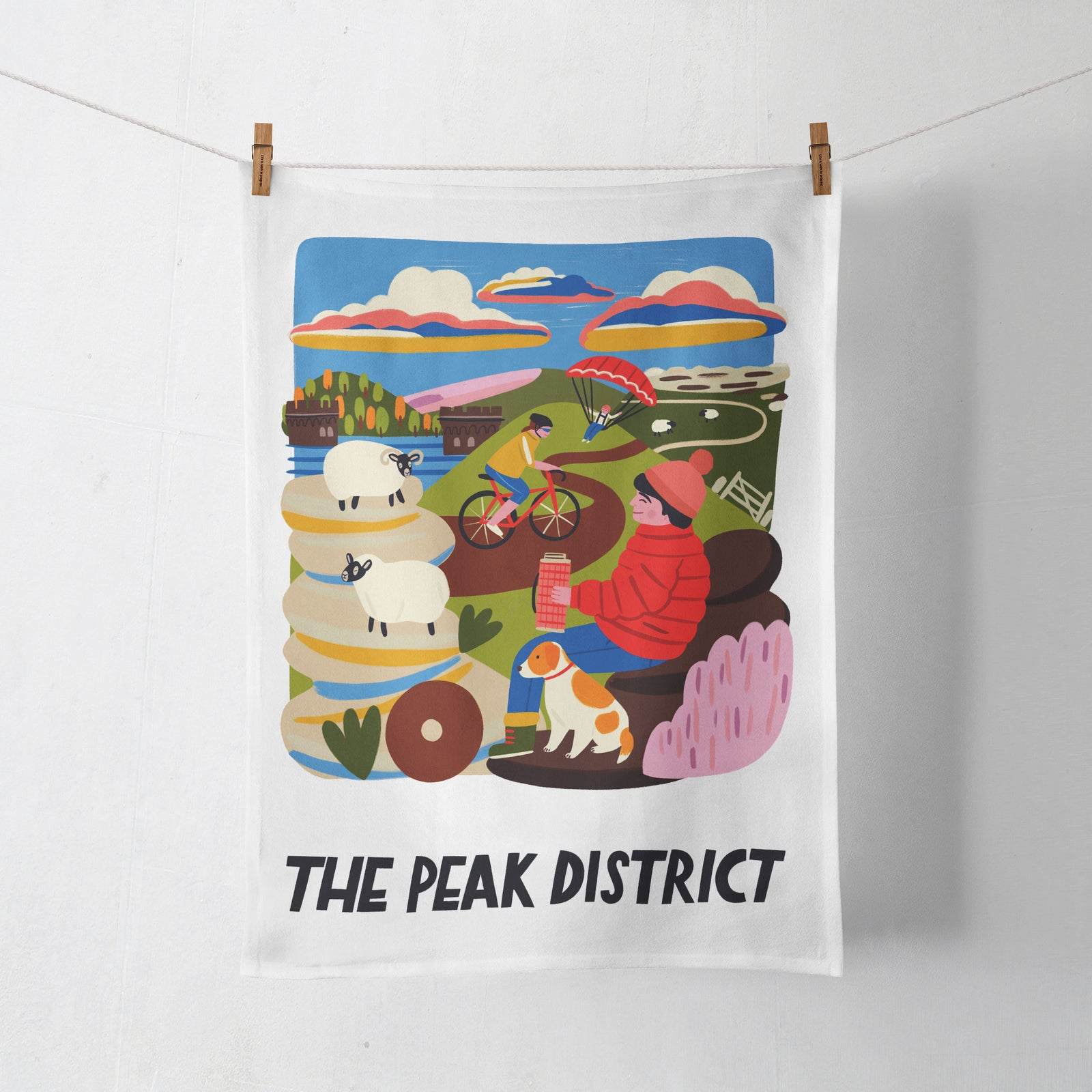Peak District Travel Poster Tea Towel