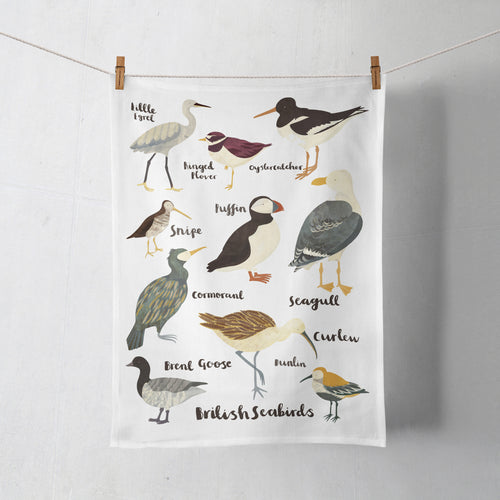 British Sea Birds Tea Towel by Lauren Radley
