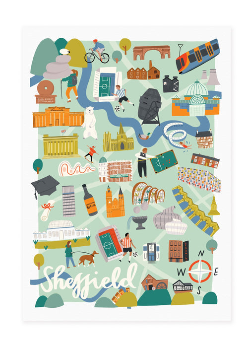 Sheffield Map Print