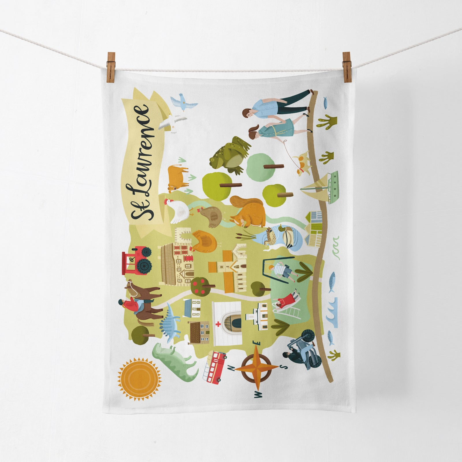 St Lawrence Map Tea Towel