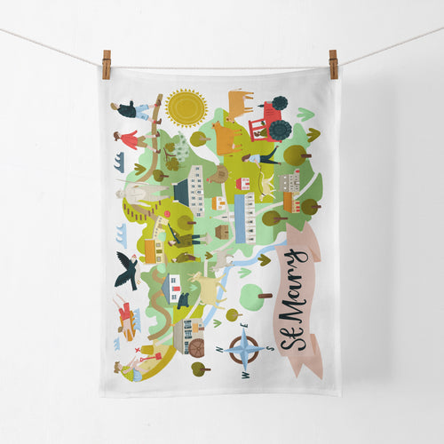 St Mary Map Tea Towel