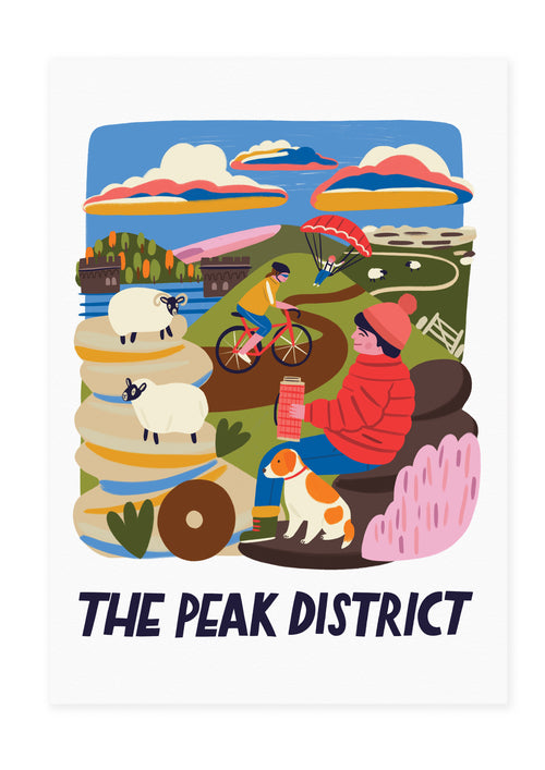 The Peak District Travel Poster Print