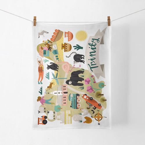 Trinity Map Tea Towel