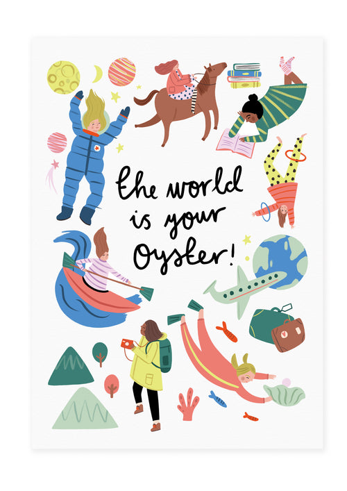 The World Is Your Oyster - Strong Girls Collection Print