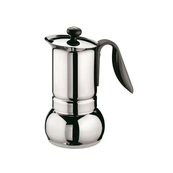 GAT Cafe Caffe Opera - Moka Stove Top Coffee Espresso Maker - Stainless Steel - Various Sizes