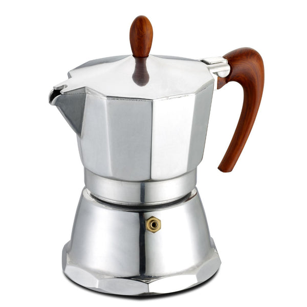 GAT Cafe Italian Moka Stovetop Coffee Espresso Maker Aluminium Silver 1 Cup - Slightly Scratched or Minor Imperfections
