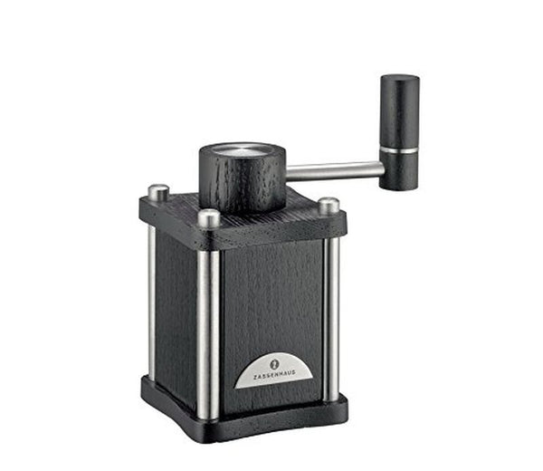 Zassenhaus Lübeck - Salt Mill/Grinder - 6 Settings - Black/Stainless Steel