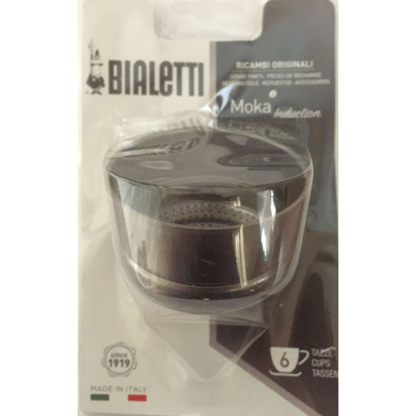 Bialetti - Spare Funnel for Moka Induction Coffee Maker - 6 Cup - Blister Pack