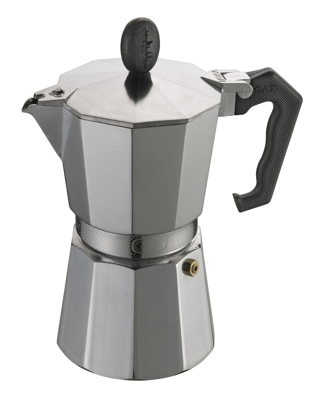 GAT - Lady Oro Aluminium Moka Stove Top Coffee Espresso Maker - for All Stove Tops - 24 Cups