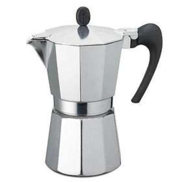 GAT Aroma VIP - Moka Stove Top Coffee Espresso Maker - Aluminium - Silver - 1 Cup-Slightly Scratched