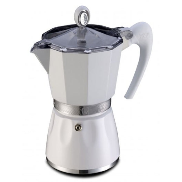 GAT Bella Italian Moka Stove Top Coffee Espresso Maker Aluminium White 3 Cup - Slightly Scratched or Minor Imperfections