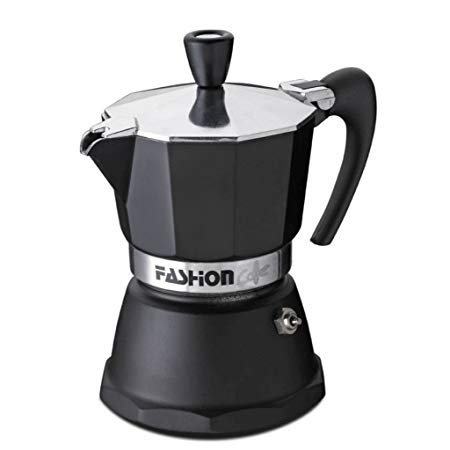 GAT Italian Moka Stove Top Coffee Espresso Maker Aluminium Black 1 Cup - Slightly Scratched or Minor Imperfections