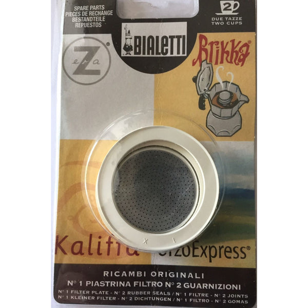 Bialetti Orzo - Spare Filter and 2 Rings for Orzo Express Coffee Maker - 2 Cup