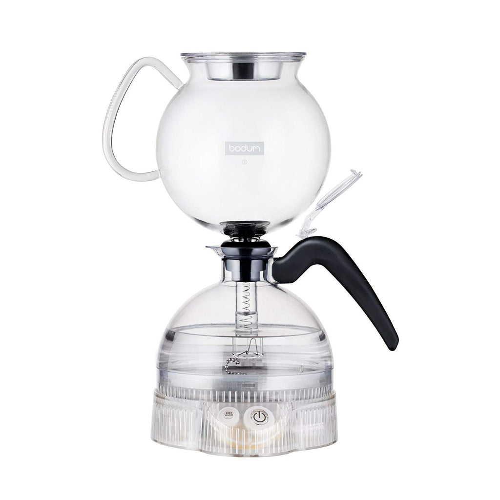 Bodum ePebo - Electric Vacuum Coffee Maker - Black -  8 Cup/1.0 l/34 oz
