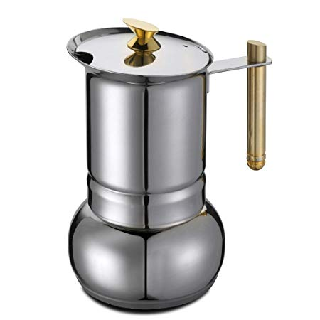 GAT Amore Italian Moka Stove top Coffee Espresso Maker St Steel - 4 to 2 Cups - Slightly Scratched or Minor Imperfection
