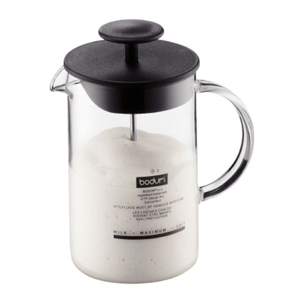 Bodum Latteo Milk Frother - Heat-Resistant Glass & Moulded Handle - 0.25L