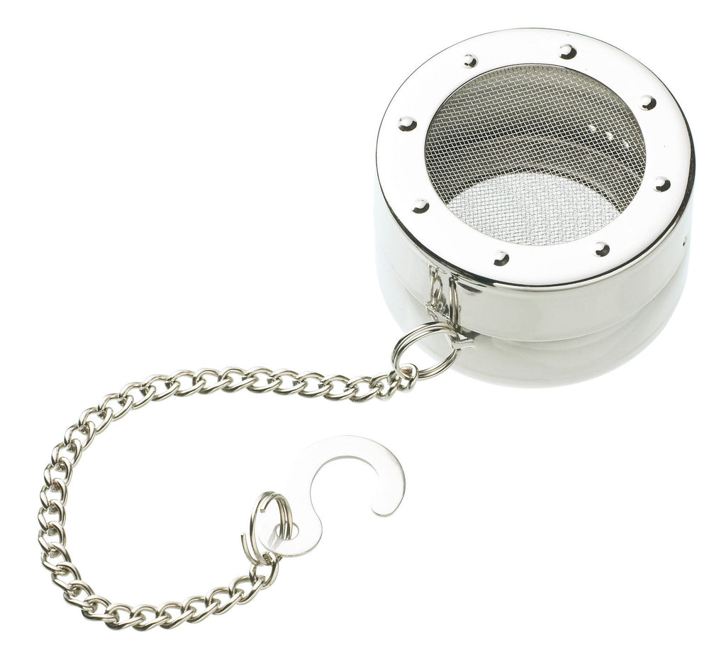 Kitchen Craft Master Class - Tea Infuser - With Hook and Chain - Stainless Steel