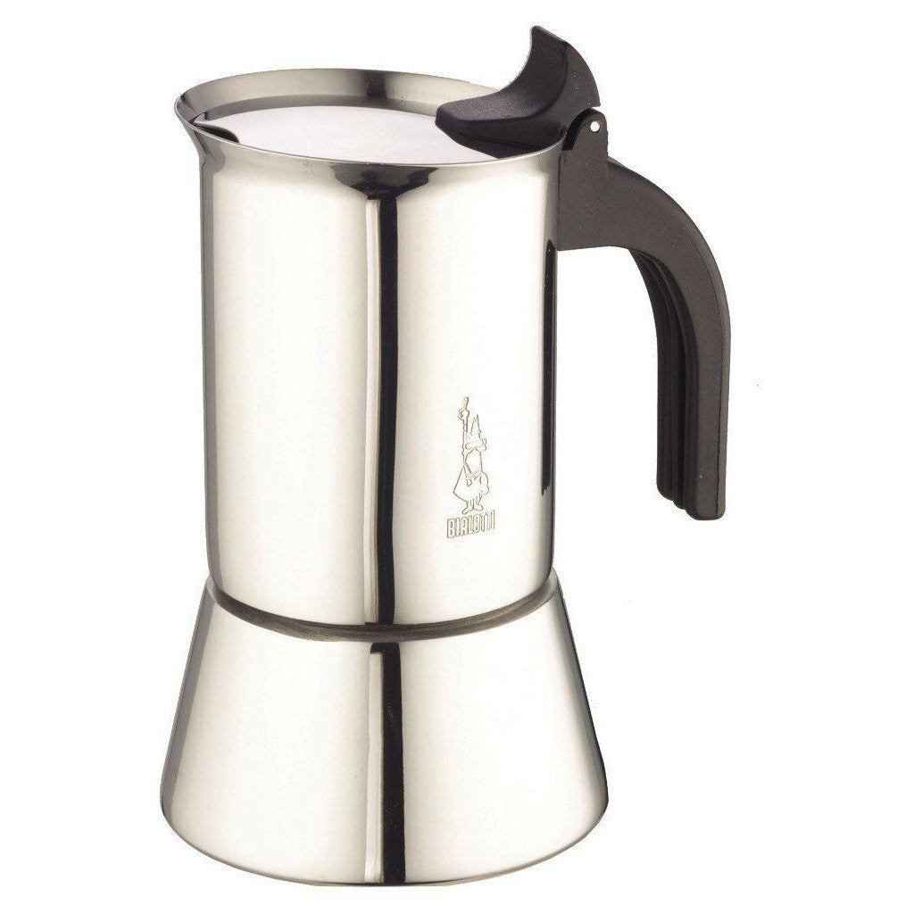 Bialetti 10 Cup Venus Induction Espresso Maker Stainless Steel with Cool Grip - No packaging