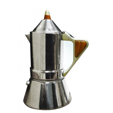 GAT Regina Italian Moka Stovetop Coffee Espresso Maker St Steel 4/2 Cups - Slightly Scratched or Minor Imperfections