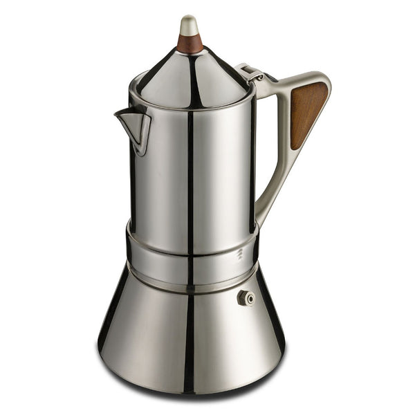 GAT Regina Caffettiera - Moka Stove Top Coffee Espresso Maker - Stainless Steel - Various Sizes