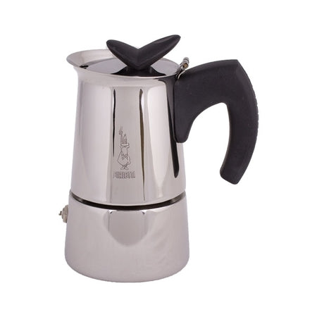 Bialetti Musa Stovetop Espresso Moka Coffee Maker Stainless Steel 2 Cups Slightly Scratched or Minor Imperfections