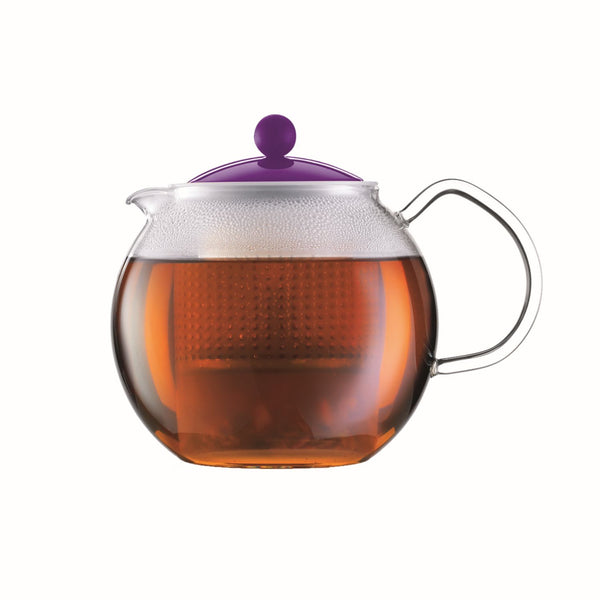 Bodum - Assam Tea Press with Glass Handle - Coloured Lid - Various Sizes