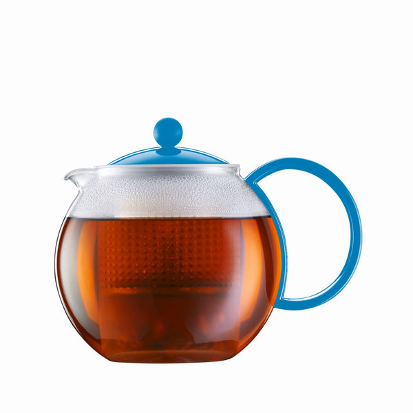 Bodum Assam - Modern Tea Pot - Glass and Plastic - Various Colours & Sizes