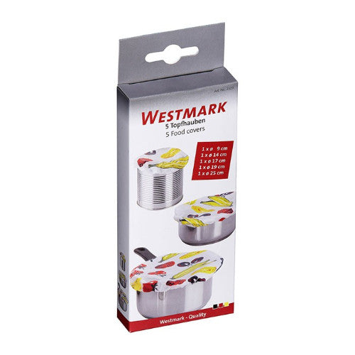 Westmark - Food Covers - Polyethene with Rubber Tying String - Set of 5
