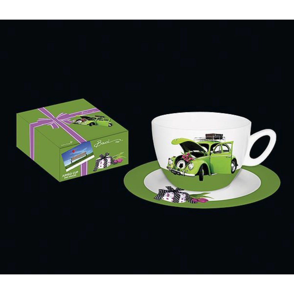 Cilio Baci - Jumbo Cup and Saucer - Retro Volkswagen Design - Porcelain - 500ml