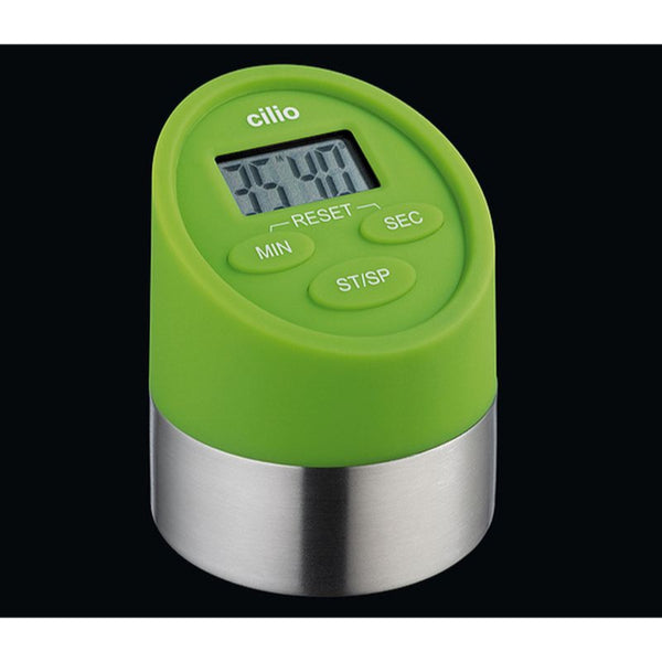 Cilio Premium Gemelli - Combined Digital Kitchen Timer & Clock - Various Colours